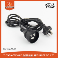 AU 3x1.0mm2 black male to female electric Australian power extension cord