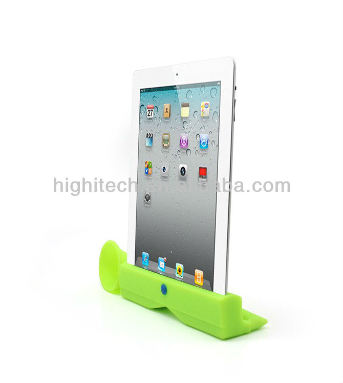 Silicone horn speaker Stand Amplifier for Apple ipad 2 3 4