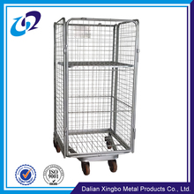 Warehouse galvanized storage steel rolling cage