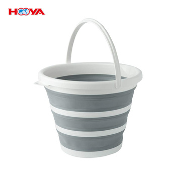 Multi Purpose Foldable Pail With Flexible, Sturdy Handle For Hiking, Camping And Outdoor Survival Collapsible Water Bucket