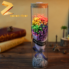 2018 Factory direct sale rose wishing bottle artificial dry flower Valentine's gifts