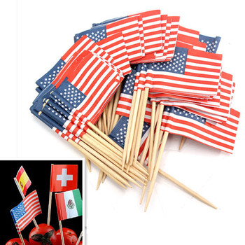 International country party decorations italian toothpick flags