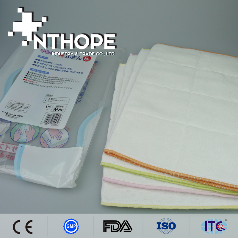 microfiber cleaning 100% cotton fabrics for dish cloths