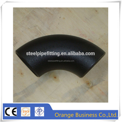 API 5L carbon steel steel pipe fittingpipe 45 90 180 degree elbow china supplier