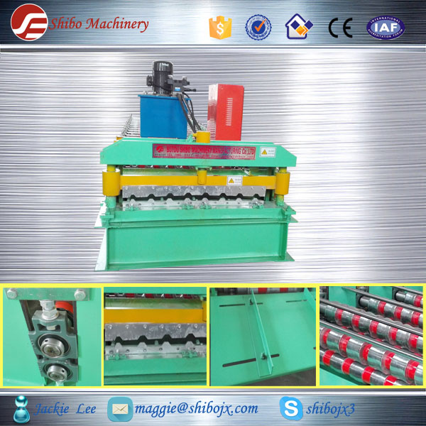 Roofing Used Hydraulic Galvanized Metal Steel Tiles Rolls Forming Machine Supplier