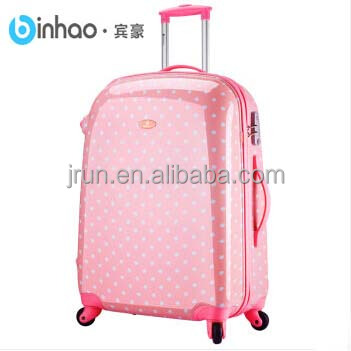 adorable dot pattern children trolley luggage