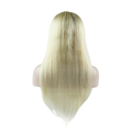 24inches Blonde Color Virgin Hair Longest Lasting Customized Full Lace Wig