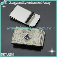 hottest masonic money clip/hardware high quality engrved cuntom money clip for men