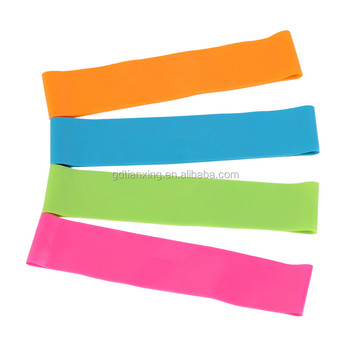 10 inches premium resistance loop bands set of 4 for leg exercise