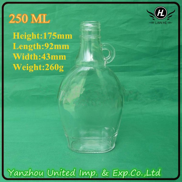 High quality 250ml maple syrup bottle with handle