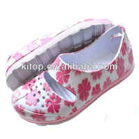 new design fashion lady pirnting clog shoes