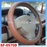 unique car steering wheel cover with coffee color from manufacture