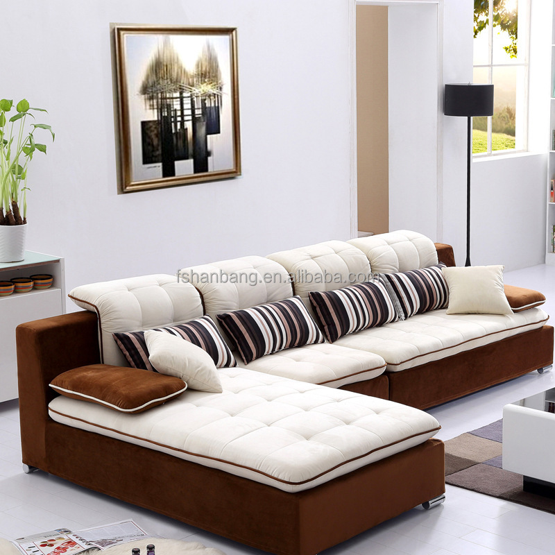 Hotsales Trendy Modern Design Living Room Fabric Sectional Sofa Set