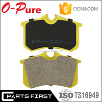 GDB1330 E-Mark ISO/TS16949 top quality stock auto parts ceramic car disc brake pad manufactures for VW Audi OE:4D0 698 451 D