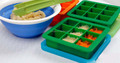 High food grade FDA&LFGB approval 9 cave silicone baby food storage, 9 holes baby food storage with lid,silicone baby food tray