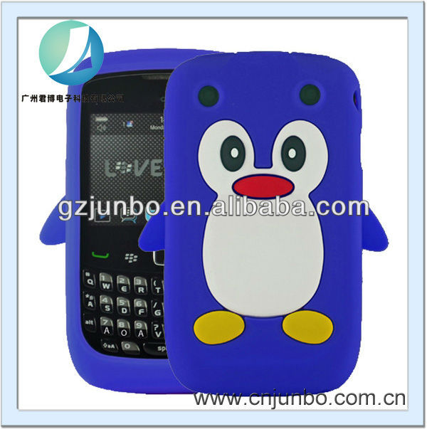 cute toy Penguin silicone soft gel case cover for Blackberry 9320