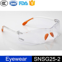 Samples frameless clear pc lens nose rubber pad safety eyewear