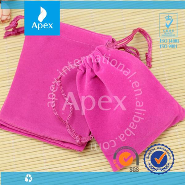 promotion packaging bag velvet jewelry bags and pouches