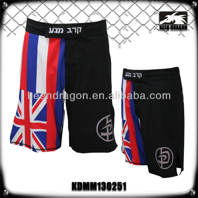 mens flag printing mma shorts wholesale athletic shorts