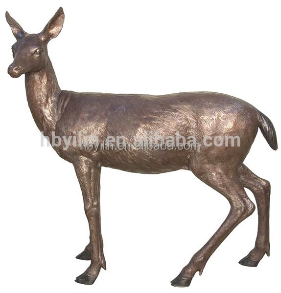 2015 new products musk deer bronze sculpture