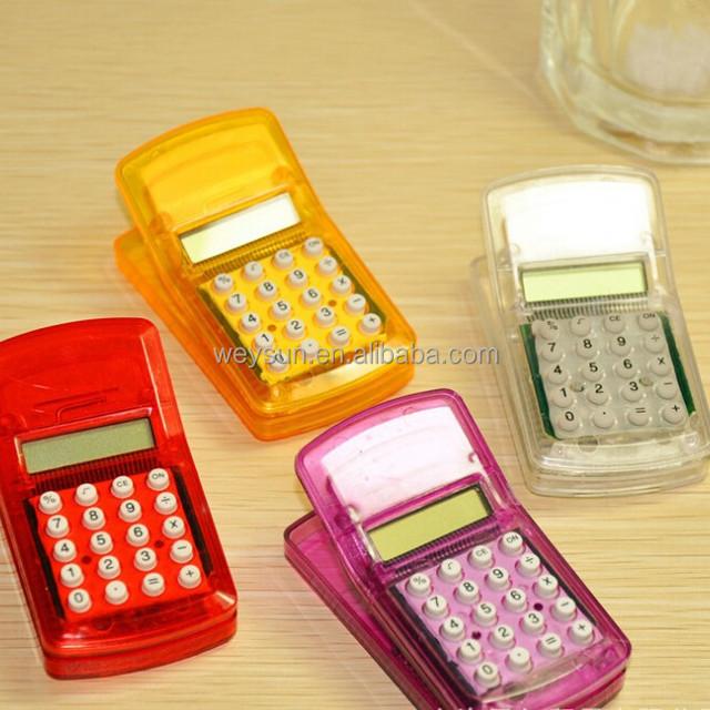 LCD Screen Display Mini Portable Pocket Clip Calculator mini pocket size calculator for Student