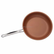 "9.5""non-stick Copper Frying Pan with stainless steel Skillet"