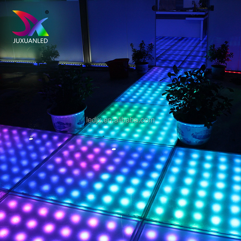 Good material led dance floor mat for Disco wedding night club rgb colorful make lighted led dance floor rechargeable