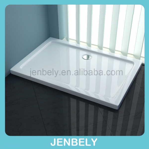 Square Tray Shape shower tray with stainless steel bar