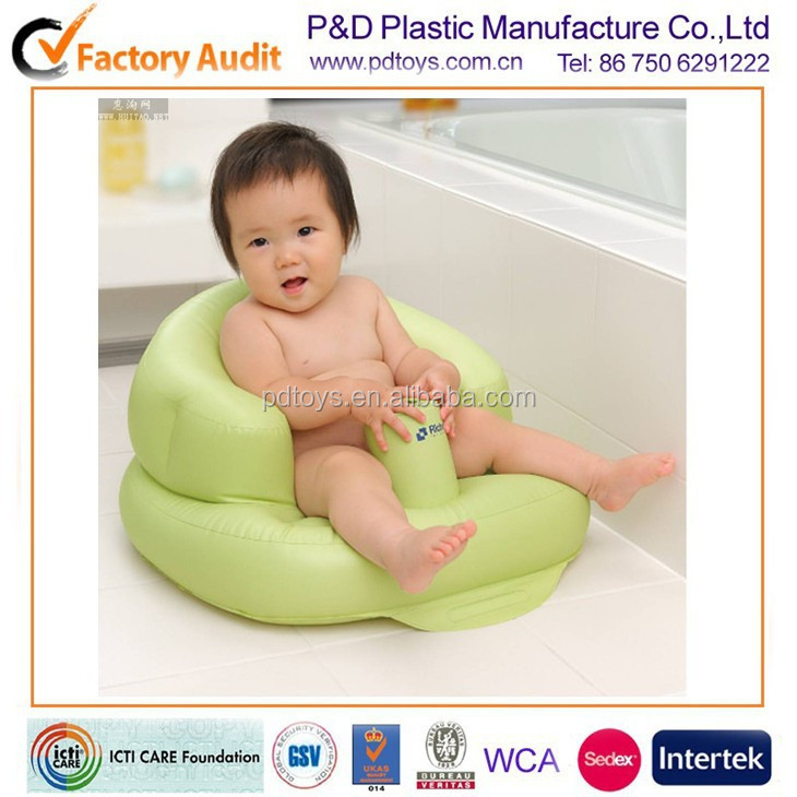 EN71 PVC inflatable air self inflating baby chair