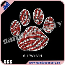 Bling Paw Motif Iron on Rhinestone Heat Transfer For T- Shirts