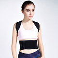 black customized back and shoulder support belt with cheap price