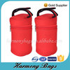 Bottle holder insulated custom red neoprene cooler bag