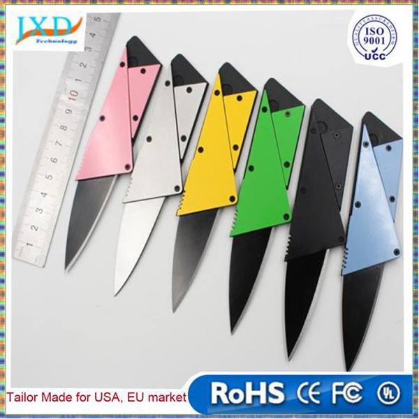 Color Pocket Knife Hilt Add Layer Steel Plate Mini Wallet Credit Card Knife Folding Blade Multi Functional Knife