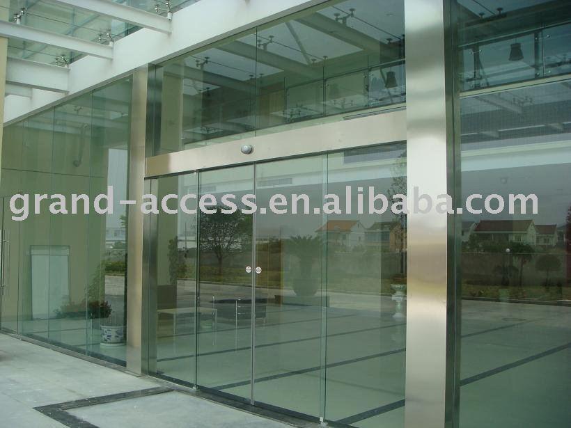 Vidrio puerta corredera autom tica con detectores de for Puerta corredera automatica vidrio