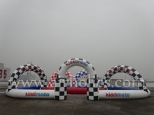 funny inflatable go karts race track, inflatable go kart racing ,zorb ball track A6051