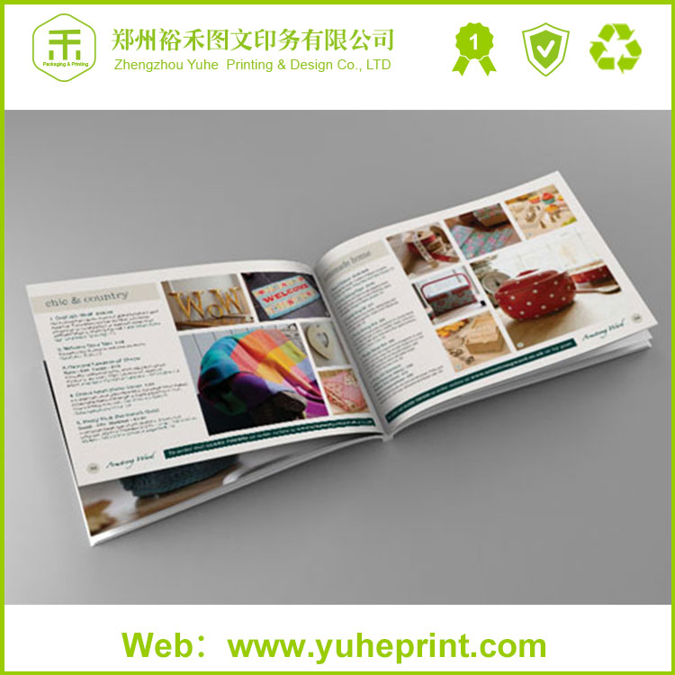 Latest style hd clear printing a4 glossy soft cover site instruction book paper brochure