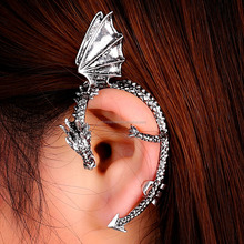 Fashion Jewelry punk dragon shape Earring Ear Cuff wrap clip earring no piercing no hole earring