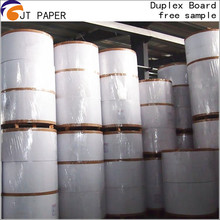 White Coated Food Grade Pressed Waste Duplex Paper Board in rolls