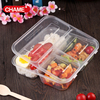black and transparent lunch boxes/bento box/food container