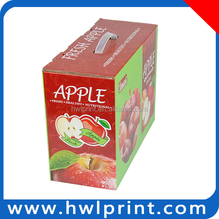 Big foldable tropical fruit box for apple and orange la apple y naranja caja