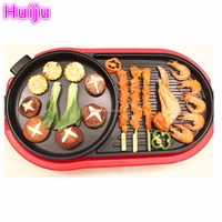 electric bbq grill with hot pot bbq gas grill