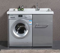 (S-1429) 304 Stainless Steel Grey Bathroom Laundry Cabinet