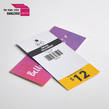 Customized Cheap and High Quality Printing Paper Hang Tags For Garment