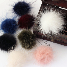 Exquisite garment accessories colorful animal ball mink fur pompon