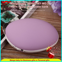 New usb rechargeable colorful power bank hand warmer