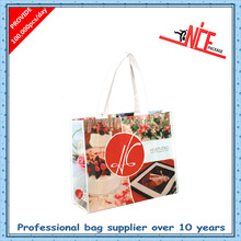 Fashion Pvc coated non woven shopping bag enhanced around the bag