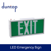 high quality led exit sign/retrofit/rechargeable emergency lamp fire exit sign