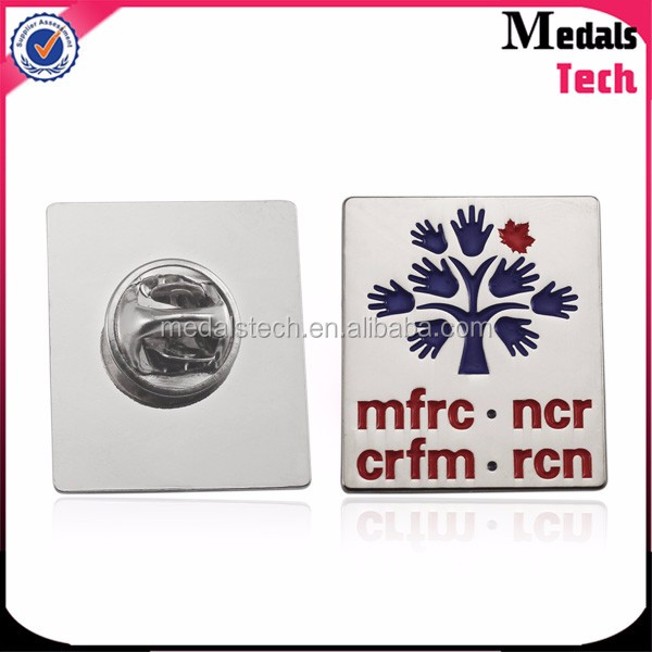 Polished silver plated custom metal promotional bulk lapel pins