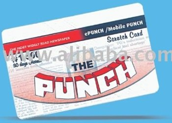 Mobile Punch recharge cards