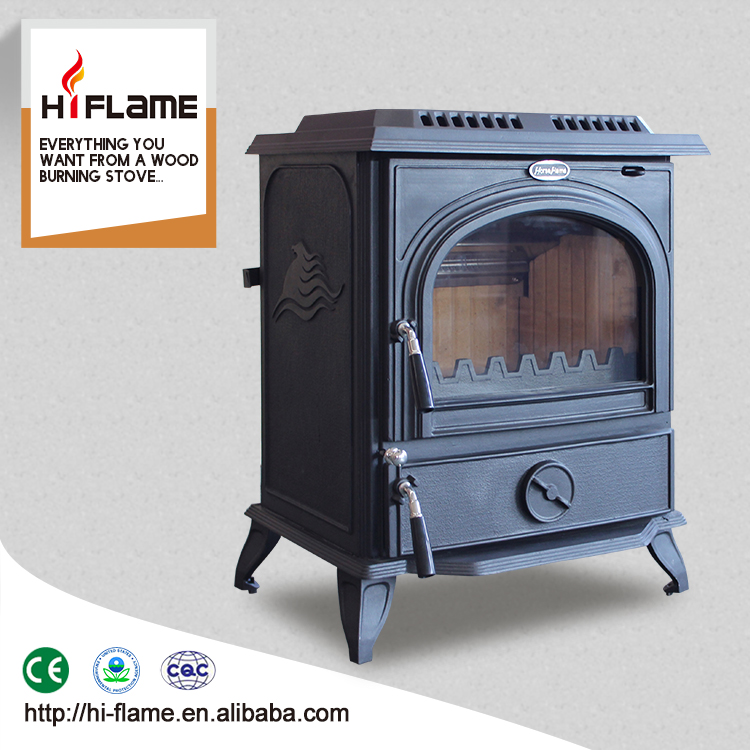 HiFlame CE Certificate Freestanding Cast Iron Burning Wood heater for 2200sq.ft big room HF717